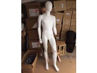 Male Mannequin Full Body High Gloss Plastic Egghead Faceless Retail Display VGC