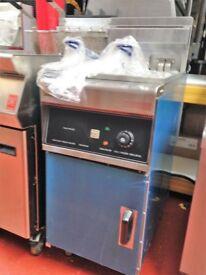 Free Standing Electric Fryer Single Tank 3 Phase Take Away
