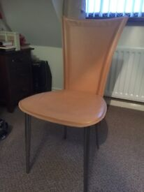 1970s STYLE LEATHER HIGH BACK CHAIR - £15 - BANGOR AREA - NO SUNDAY CALLERS