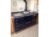 AGA gas cooker - Royal Navy blue