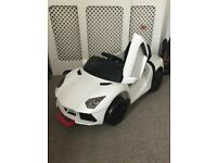 Electric kids car white