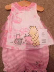 Bundle of new baby girls clothes 0-3 and 3-6 months