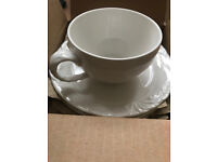 New Boxed Villeroy & Boch Foglia x6 Tea cup & x6 saucer Fine China Coffee