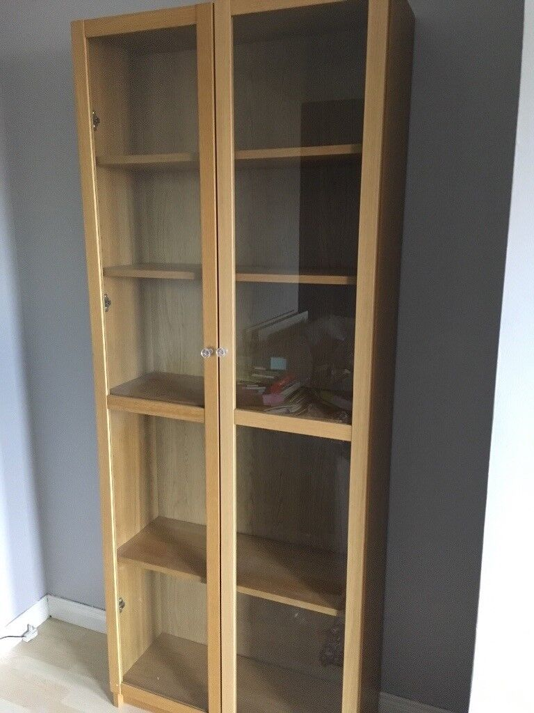 Ikea Billy Bookcase With Glass Doors In Carrickfergus County Antrim Gumtree