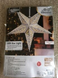 Large 10 LED electric Christmas hanging star light