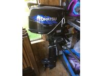 Inflatable ridgid hull Selva tender boat. 4hp Tohatsu four stroke engine and trailer.