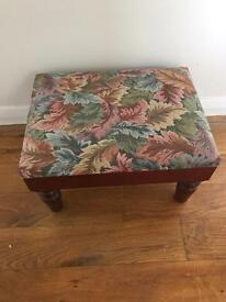 REDUCED AND STILL AVAILABLE Antique Footstool