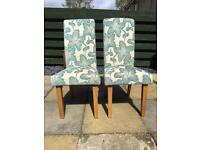 Dining chairs x 2 House clearance