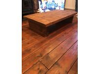 Chunky rustic Wooden coffee table