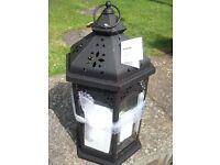 Kasbah moroccan candle lantern set x 3 - BN