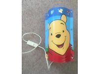 Winnie The Pooh Kids Baby Nursery Cartoon Bedside Cot Table Lamp Wipeable