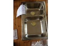 Brand New Double Kitchen Sink From Ikea-Boholmen 77 X 50cm