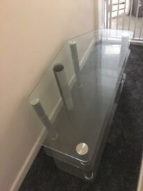 Glass TV stands, 2 to choose from!