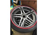 Alloys with tyres