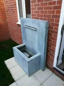 Zinc water fountain