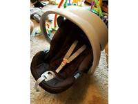 Cybex aton car seat and belted base