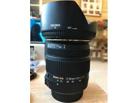 Sigma 17-50mm f2.8 lens (Nikon Fit) boxed and immaculate condition ***REDUCED PRICE***