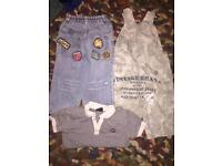 Boys 2-3 yrs dungarees, jeans and top