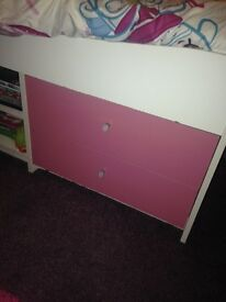 Girl cabin bed with draw storage excellent condition