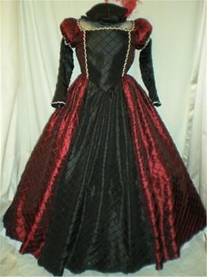 Elizabethan Renaissance Tudor Romeo & Juliet Dress Gown Hat, Your Size Choice