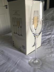 CHAMPAGNE/PROSECCO CRYSTAL FLUTES - GLASSES