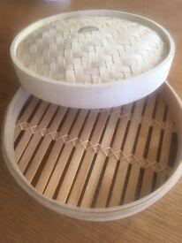Wooden bamboo steamer