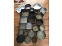 Cake Tins Various shapes and sizes