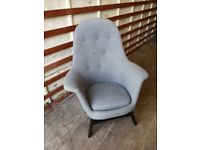 Designer Grey Armchair for sale (Delivery available)