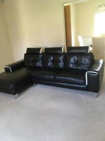 Leather 3 Seater Sofa Chaise. Harveys