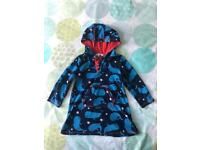 John Lewis whale towel poncho / hoody 12-18 month