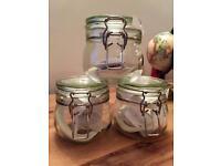 3 X Medium IKEA Storage Jars