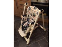 Mamas and Pappas multi position highchair