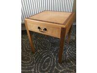 handmade solid wood bedside table