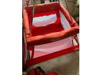 Travel cot. Baby hub. Tepee cot. Sleep safe.
