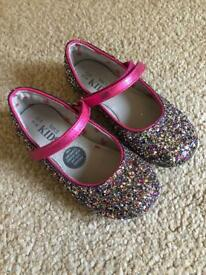 Girls Glittery Party Shoes