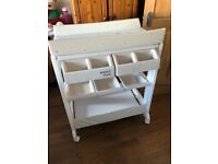 Baby changing unit with built in bath very good condition