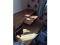 QUICK SALE SOLID PINE WOOD DESK AND FREE OFFICE CHAIR