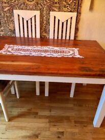 FARMHOUSE DINING TABLE - SOLID WOOD/HEAVY