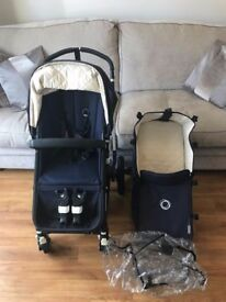 Excellent Condition Bugaboo Navy Cameleon 3 Pram