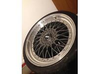 Bbs rs 19 inch alloy wheels deep dish 5 x 112