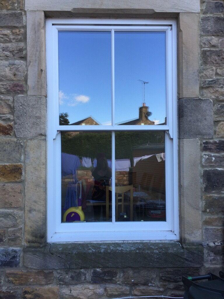 4 factory finished wood double glazed sash windows