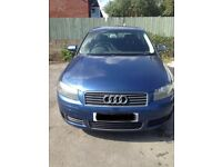 Blue Audi A3 no MOT so selling as spares and repairs, bargain for a great car