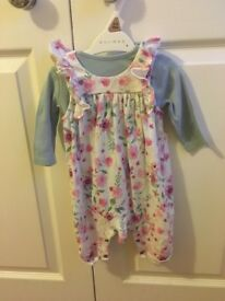 Mothercare Baby floral jumpsuit 0-3 months