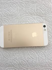 I PHONE 5S LOVELY CONDITION COLOUR GOLD