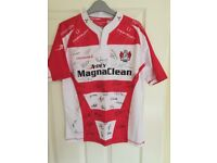 Signed Gloucester rugby shirt
