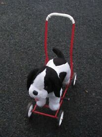 Ride on Dog with footrests and push handle
