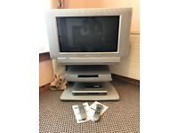Television with DVD player and Freeview tuner/recorder