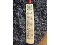 Signed Gloucestershire cricket bat