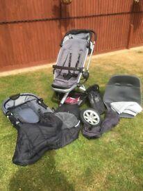 Quinny Buzz 3, pushchair, toddler seat and travel pram (Raven-Grey/Black)
