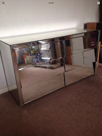 Mirrored glass cabinet chest of drawers Venetian dressing room